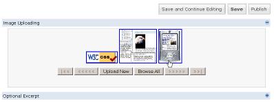 WordPress Write Post Image Uploading Images