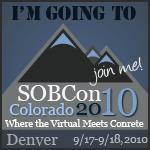 SOBCon 2010 in September in Colorado, Register Now