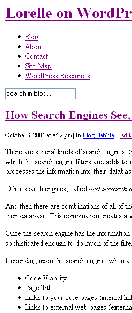 article - plain without style sheet. Seen as a search engine sees the page.