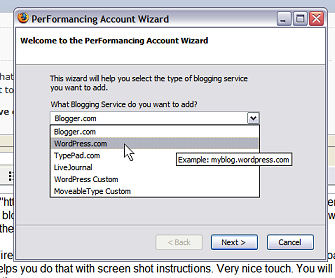 Performancing Firefox Extension for Bloggers