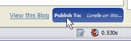 Performancing Publish Button for publishing the post to your blog