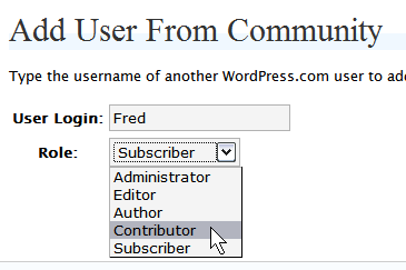 Wordpress.com Add Users and Authors