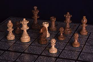 Handmade Chess Set from the Middle East - photograph by Brent VanFossen