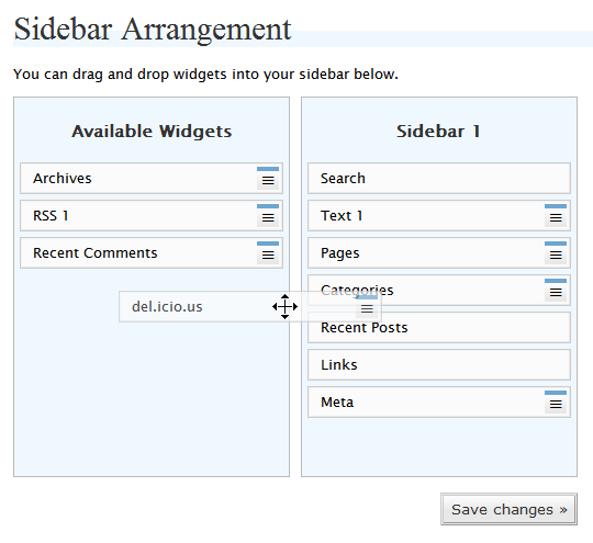 Wordpress Widget - Move the widget to the sidebar