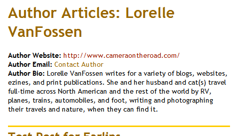 WordPress Customized Author Template File by Lorelle VanFossen