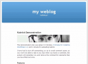 WordPress Kubrick Default WordPress Theme - click to see the large version