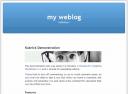 WordPress Kubrick Default WordPress Theme - click to see the large version