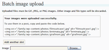 Mogrify Batch Image Uploader WordPress Plugin for uploading multiple images to WordPress