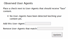 AntiLeech WordPress Plugin User Agent Options stopping splogs and content theft