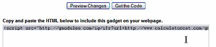 Google Gadgets - Get Code