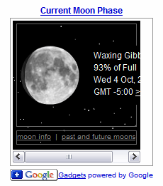 Google Gadgets - the Moon Phase Gadget in a too narrow width