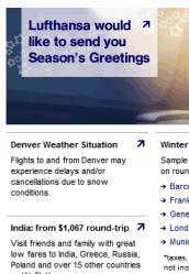 US version of Lufthansa site