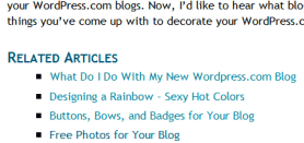 Related Posts are created manually in WordPress.com blogs