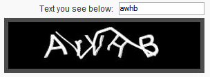 Example of a strange captcha