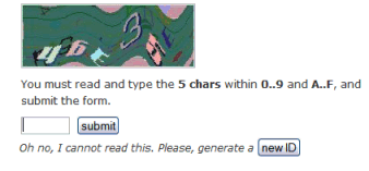 CAPTCHA almost impossible to read test for comment protection