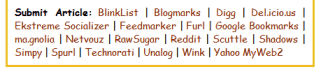 Text only social bookmarking submission links example