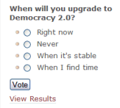 Democracy AJAX Poll WordPress Plugin