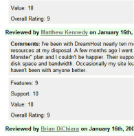 Review Site Plugin comment form example of review