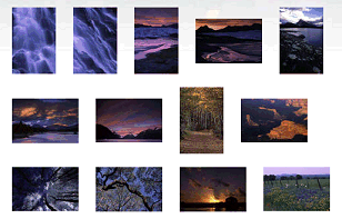 Example of a photo album or gallery showcase on a blog