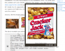 Popin effect on a thumbnail linked image shows the page below