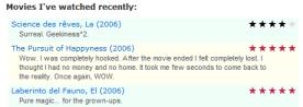 WordPress Movie ratings Plugin review example