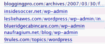 WordPress Administration Panels Referrer Links