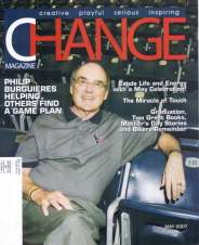 Change Magazine, May Issue featuring article by Lorelle VanFossen