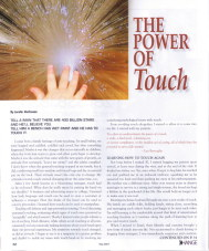 Change Magazine, May Issue featuring article by Lorelle VanFossen on The Power of Touch