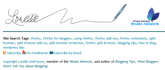 Lorelle's tagging signature bookmarklet