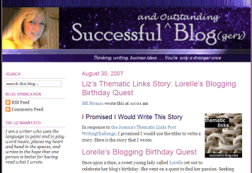 Liz Strauss and Lorelle's Birthday Quest Post