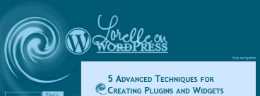 Header example of the Lorelle on WordPress designed Theme with a clickable header