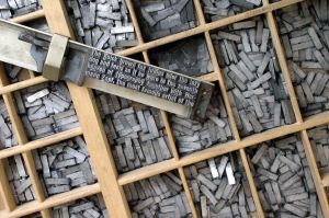 Letterpress type and lead slugs
