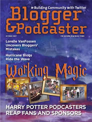 Blogger and Podcaster Magazine October issue with Lorelle VanFossen
