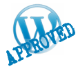 Example of a hypothetical WordPress Theme approved badge