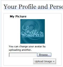 WordPress.com User, Your Profile Panel Avatar upload