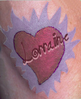 Lorraine and her tattoo