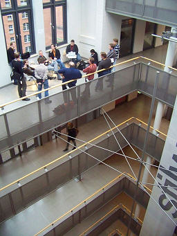 WordCamp Hamburg - group gathering on the stairs