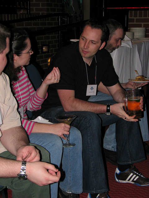 Alex of Not a Niche at WordCamp Dallas pre-party