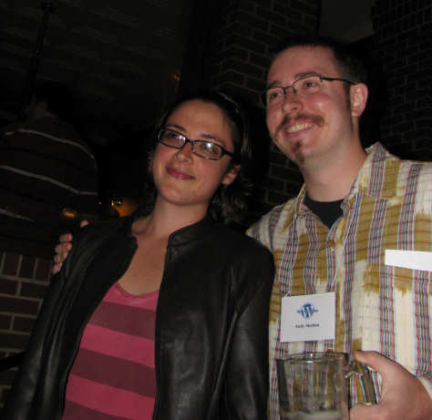 Andy Skelton and friend at WordCamp Dallas pre-party