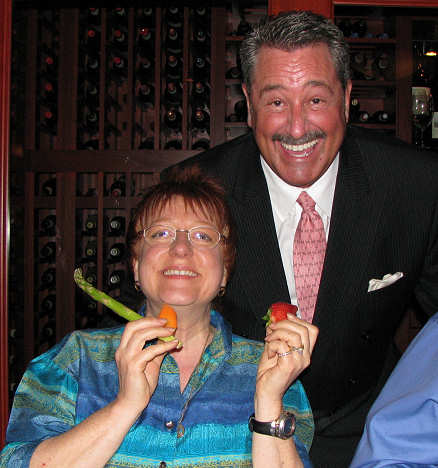 Lorelle and Rick Stein of Rick Stein's Steakhouse - happy vegetable girl