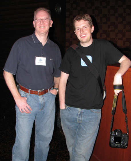 John Pozadzides and Matt Mullenweg at WordCamp Dallas