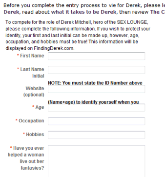 Rachelle Chase - Finding Derek Contest Entry Form