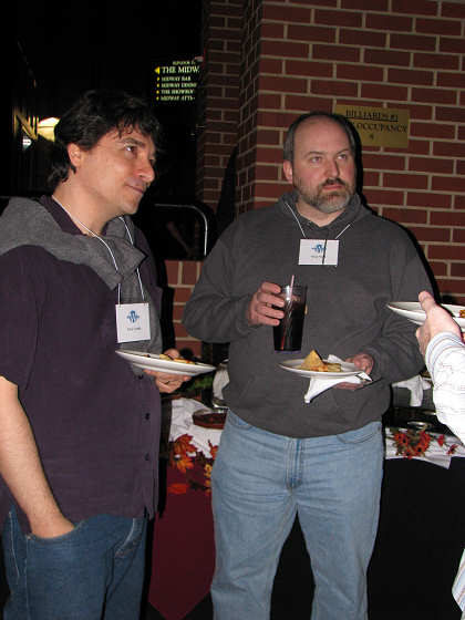 Tony Cecala and Doug Smith at WordCamp pre-party