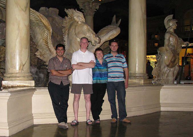 Elie Khoury, John Pozadzides, Lorelle, Jad Younan, the Woopra team in Vegas