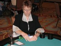 LTPact 2008 photographs by Lorelle VanFossen - Lorelle with her poker face