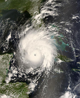 Hurricane Gustav satellite photo