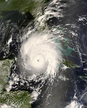 Hurricane Gustav satellite photo