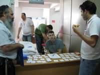 Meeting with sponsors at WordCamp Israel