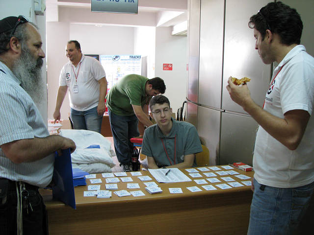 Meeting with sponsors at WordCamp Israel