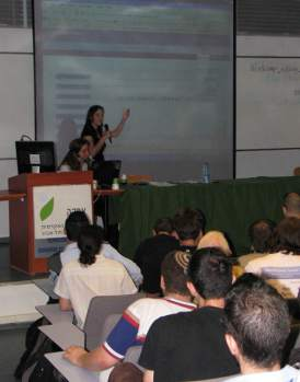 Presenting a program at WordCamp Israel 2007